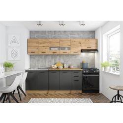 Кухонный комплект PERLA 260 дуб артисан/темно-серый