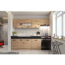 Кухонный комплект ALINA 240 дуб артисан/черный матовый
