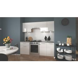 Кухонный комплект MARIJA 200 белый глянец/дуб сонома