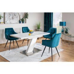 Раздвижной обеденный стол TORONTO 120-160cm белый