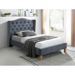 Кровать ASPEN velvet серый BLUVEL 14 120x200