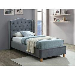 Кровать ASPEN velvet серый BLUVEL 14 90x200