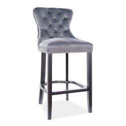 Барный стул AUGUST H-1 velvet серый BLUVEL 14