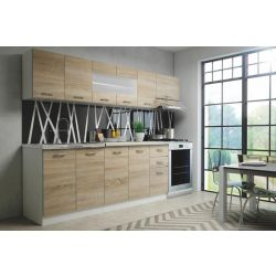 Кухонный комплект PERLA 260 дуб сонома/белый