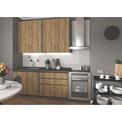 Кухонный комплект IDEA 180 дуб вотан/антрацит