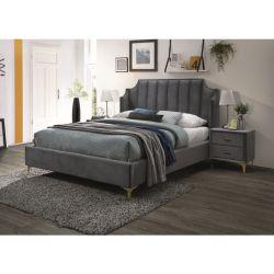 Кровать MONAKO 160 серый бархат